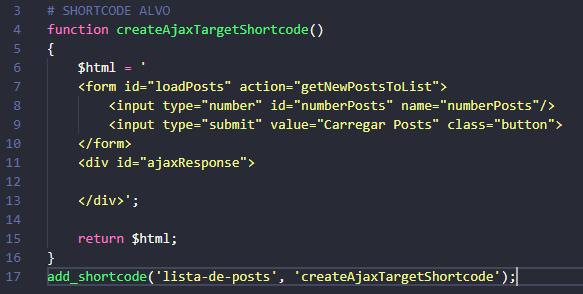 Exemplo shortcode